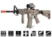 G&G Combat Machine GC16 Raider-L M4 Carbine AEG Airsoft Gun Battery and Charger Package ( Tan )