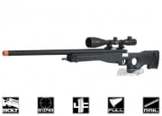 G&G Full Metal Mauser G96 Gas Powered Bolt Action Sniper Rifle Airsoft Gun ( BLK )