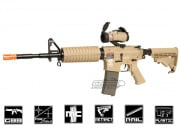 Combat Machine M4 Carbine Gas Blow Back Airsoft Gun (Tan)