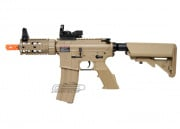 G&G Full Metal TR16 CQW Desert Tan Blow Back AEG Airsoft Gun w/ NC STAR Panorama Electro Red Dot Sight Package