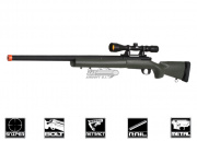 Javelin Airsoft Works Full Metal M24 Bolt Action Sniper Rifle Airsoft Gun ( OD / Scope Package )