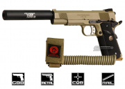 (Discontinued) Airsoft GI Full Metal 1911 Desert Assassin Airsoft Gun (Tan)