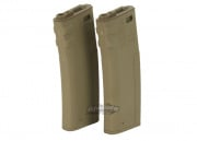 G&P/Socom Gear Troy Industries 340rd M4/M16 High Capacity AEG Battle Magazine (2 Pack/DE)