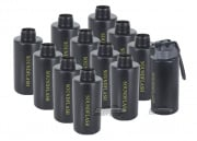 Hakkotsu Thunder B CO2 Sound Grenades Cylinder Package w/ Core & Pin -12 Pack (Black)