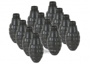 Hakkotsu Thunder B CO2 Sound Grenades Pineapple Shell Package - 12 Pack (Black)