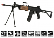 ICS Full Metal/Real Wood Galil ARM AEG Airsoft Gun (Battery & Charger Package)