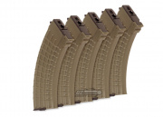 King Arms 600rd AK Series High Capacity AEG Magazine (5 Pack/Waffle/DE)
