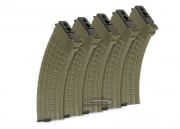King Arms 600rd AK Series High Capacity AEG Magazine ( 5 Pack / Waffle / OD )