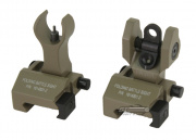 King Arms Folding Battle Sight Set (Dark Earth)