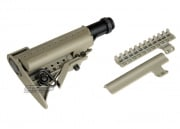 King Arms Carbine MOD Stock with Buffer Tube & 9.6V 1400mah Battery for M4 / M16 ( Dark Earth )