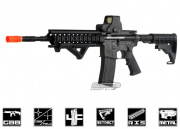 "King Arms Full Metal Colt M4 10"" Midlength RAS GBB Rifle Airsoft Gun"