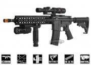 "King Arms Full Metal Colt M4 12"" Midlength RAS GBB Rifle Airsoft Gun"