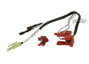 King Arms Silver Cord & Switch Set for Ver.2 ( Wired to the Front )