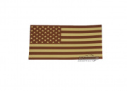 King Arms IFF US Flag Velcro Patch (Tan)