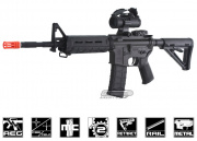 King Arms Full Metal S&W M&P15 MOE Carbine AEG Airsoft Gun (Black)