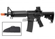 KWA M4 Shorty CQR MOD 2 Carbine AEG Airsoft Gun Gun Bag Combo Pack (Black)