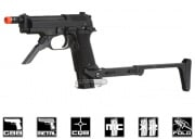 **(Discontinued) KWA Full Metal M93R NS2 Airsoft Gun Christmas Package (2 Mags/Folding Stock/Metal Slide & Frame)