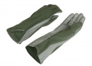 Lancer Tactical Nomex/Leather Flight Gloves (Sage/X-Large)