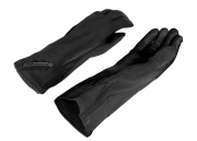 Lancer Tactical Nomex/Leather Flight Gloves (Black/Large)
