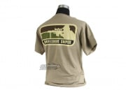 Milspec Monkey Major League Sniper T-Shirt ( Tan / S )