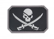 MM Pirate skull PVC Patch (Swat)