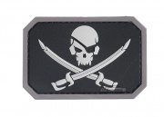 MM Pirate Flag PVC Patch ( Blk / Wht )