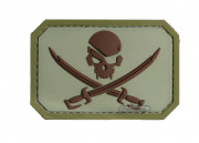 MM Pirate skull PVC Patch (Desert)