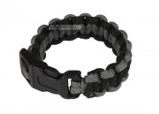 "Mil-Spec Cords Cobra Paracord Bracelets (Black/Foliage/Size 5"")"