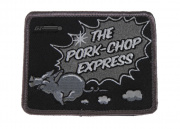 MM Pork Chop Express Velcro Patch (Blk/Wht)