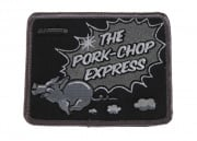 Mil-Spec Monkey Pork Chop Express Velcro Patch (Black/White)