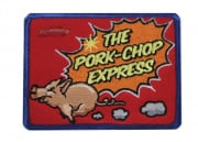 Mil-Spec Monkey Pork Chop Express Velcro Patch (Red/Blue)