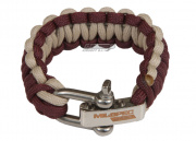 "Mil-Spec Cords Paracord Bracelet w/ Adjustable Shackle (Burgundy/Tan/Size 6"")"