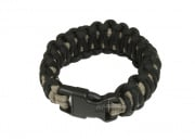"Mil-Spec Cords 7"" King Cobra Paracord Bracelet (Coy/Black)"