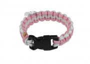 "Mil-Spec Cords Breast Cancer Research Foundation Cobra Paracord Bracelets (Pink/Wht/Size 5"")"