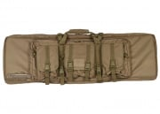 "Lancer Tactical 42"" Deluxe Molle Double Gun Bag w/ Flap (Tan)"
