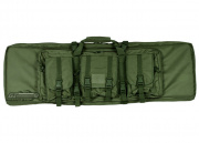 "Lancer Tactical 42"" Deluxe Molle Double Gun Bag w/ Flap (OD)"