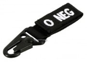 Condor Outdoor O Negative Blood Type Key Chain ( Black )
