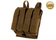 Pantac USA 1000D Cordura Molle Double M4/M16 & Quadruple 9mm Magazine Pouch w/ Hard Inserts (Coyote)