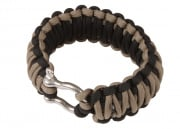 "Saved By A Thread Double Cobra Paracord Bracelet w/ Shackle (Black & Tan/7"")"