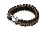 "Saved By A Thread Single Cobra Paracord Bracelet w/ Shackle (Black/Tan/6"")"