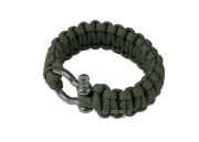 "Saved By A Thread Single Cobra Paracord Bracelet w/ Shackle (OD/6"")"