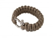 "Saved By A Thread Single Cobra Paracord Bracelet w/ Shackle (Tan/6.5"")"