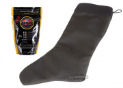 Specter Tactical Christmas Stocking (Black) w/ Bioval .20g (Biodegradable) 5000 BBs (White) Package