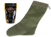 Specter Tactical Christmas Stocking (OD) w/ Bioval .20g (Biodegradable) 5000 BBs (White) Package