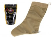 Specter Tactical Christmas Stocking w/ Bioval Biodegradable .20g 5000 ct. BBs Combo Pack (Coyote)