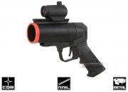 S-Thunder Universal Airsoft Metal 40mm Grenade Launcher Pistol (Short Barrel)