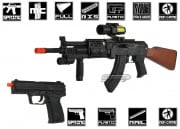 UK Arms AK-74 Spring Airsoft Gun Package