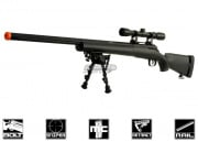 CYMA Full Metal M24 Bolt Action Sniper Rifle Airsoft Gun (Black/Scope/Bipod Package)