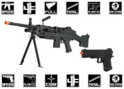 UK Arms M249 Spring Airsoft Gun Package