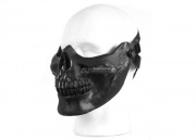 UK Arms Tactical Skull Half Mask (Black and Silver)
